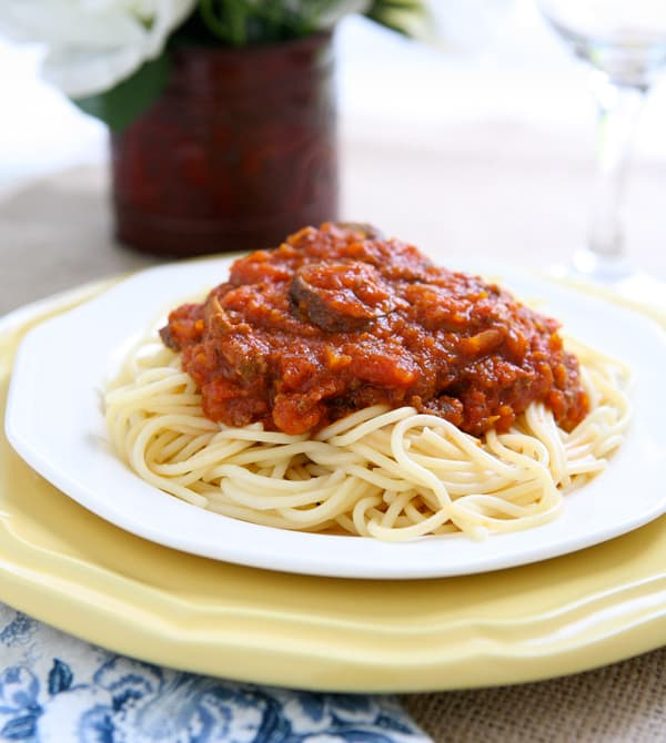 ... , especially for family favorites like slow simmered spaghetti sauce