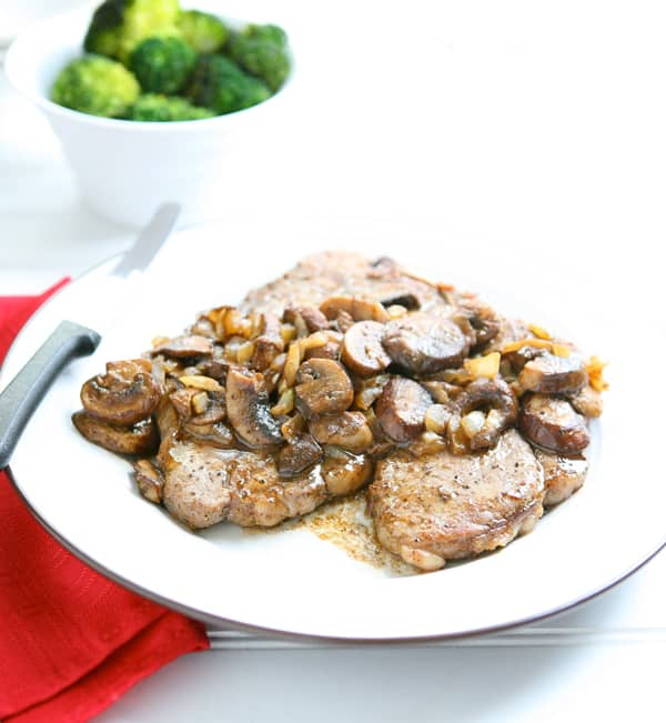 Steak with Mushroom Tequila Sauce by EclecticRecipes.com #recipe