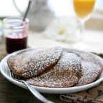 Chocolate Pancakes with Raspberry Syrup @EclecticEveryday