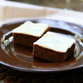 Nutella Brownies with Cream Cheese Frosting @EclecticEveryday