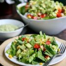 Avocado and Corn Salad with Creamy Avocado Dressing and a Hass Avocados Recipe Contest @EclecticEveryday