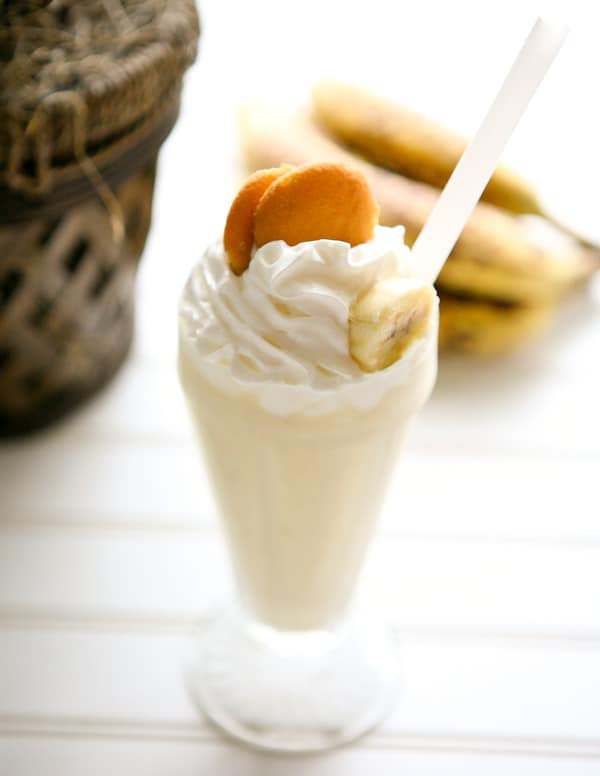 Banana Pudding Milkshake by EclecticRecipes.com #recipe