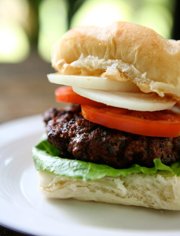 Chipotle Burgers by EclecticRecipes.com #recipe