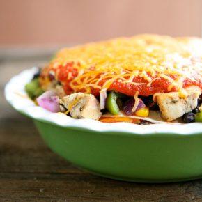 Chicken Enchilada Pie @EclecticEveryday