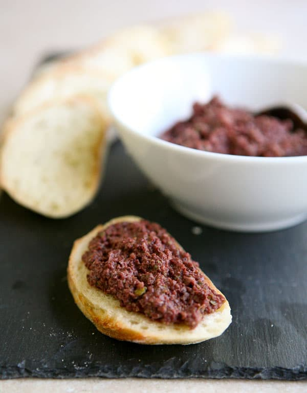 Olive Tapenade by EclecticRecipes.com #recipe