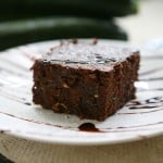 Zucchini Brownies by EclecticRecipes.com #recipe