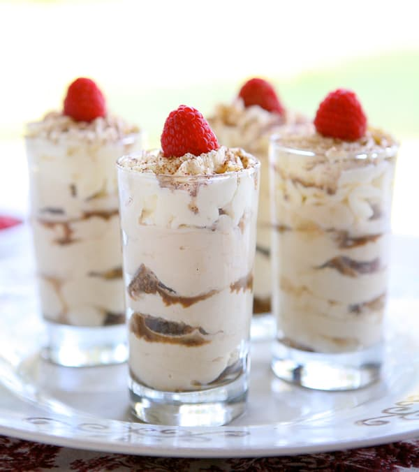 Tiramisu Shots and a Bertolli Virtual Dinner by EclecticRecipes.com #recipe