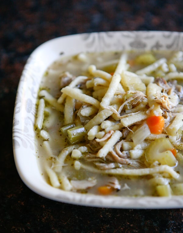 Homemade Chicken Noodle Soup by EclecticRecipes.com #recipe