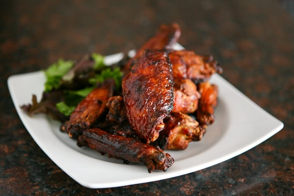 Crispy Asian Wings by EclecticRecipes.com #recipe