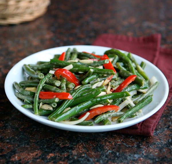 Green Bean Salad Recipe and a $100 Visa Card Giveaway by EclecticRecipes.com #recipe