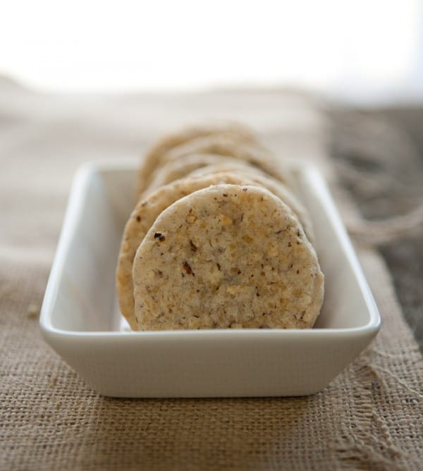 Sparkling Hazelnut Cookies by EclecticRecipes.com #recipe