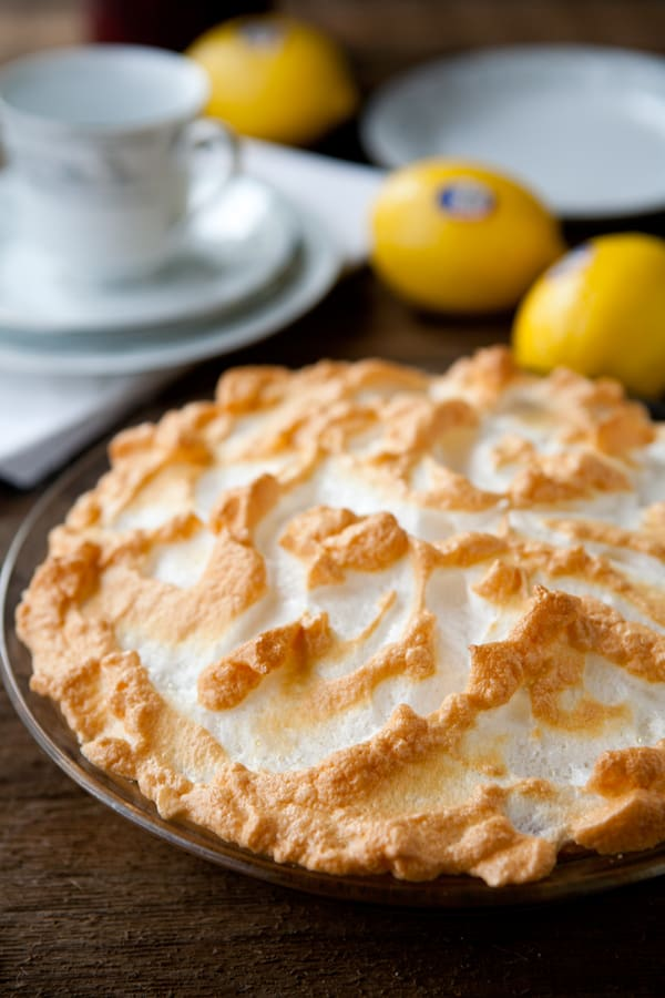 Homemade Lemon Meringue Pie by EclecticRecipes.com #recipe