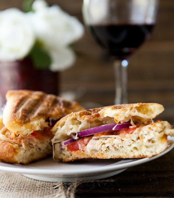 Lemon Chicken Panini by EclecticRecipes.com #recipe
