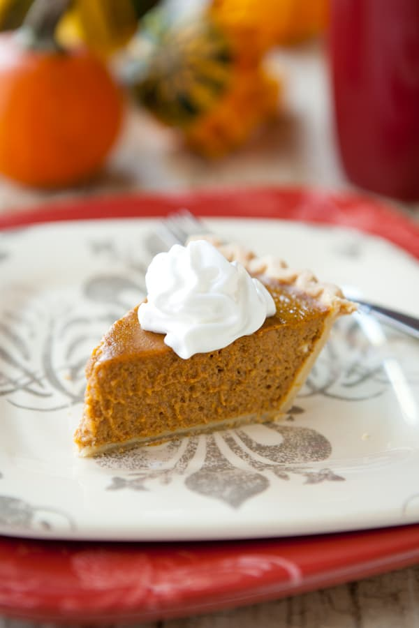 Healthier Pumpkin Pie by EclecticRecipes.com #recipe