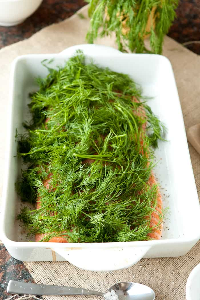 Salmon From Norway and Norwegian Gravlax by EclecticRecipes.com #recipe