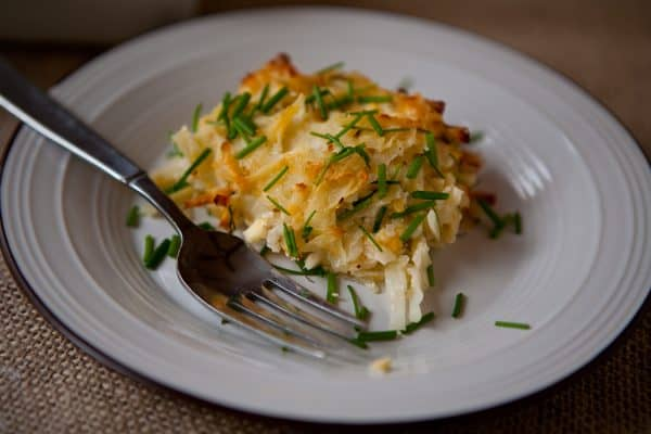 Cheesy Potato Kugel @EclecticEveryday