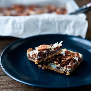 Magic Cookie Bars with Dates @EclecticEveryday
