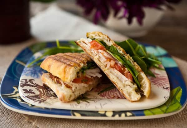 Roast Chicken and Spinach Panini by EclecticRecipes.com #recipe