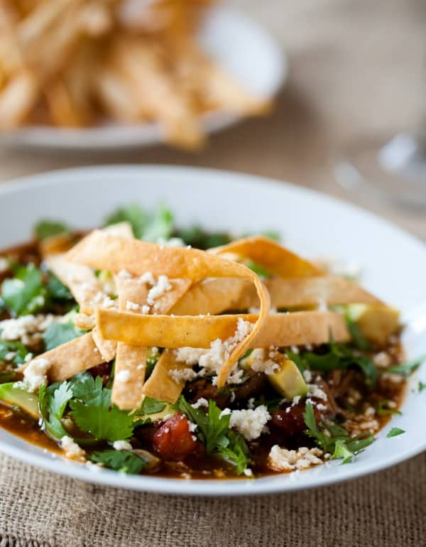 Chipotle Chicken Tortilla Soup by EclecticRecipes.com #recipe