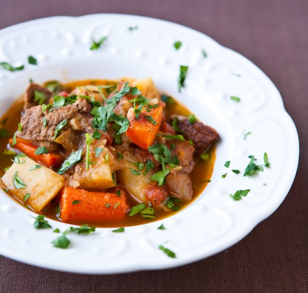Easy Beef Stew by EclecticRecipes.com #recipe