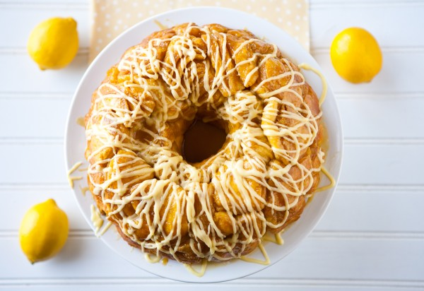 Lemon Monkey Bread by EclecticRecipes.com #recipe