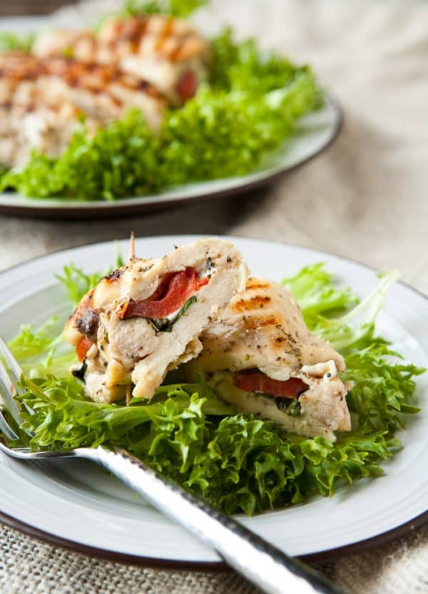 Eclectic Everyday » Grilled and Stuffed Chicken Caprese