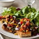 Grilled Chicken with Black Bean Salsa @EclecticEveryday
