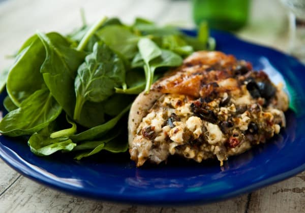 Greek Grilled Stuffed Chicken by EclecticRecipes.com #recipe