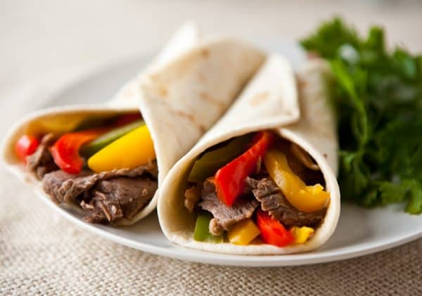 Flat Iron Steak Fajitas by EclecticRecipes.com #recipe