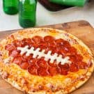 Football Peperoni Pizza @EclecticEveryday