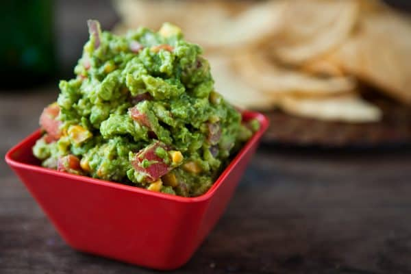 Roasted Corn Guacamole by EclecticRecipes.com #recipe