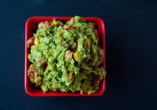 Roasted Corn Guacamole @EclecticEveryday
