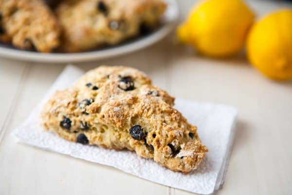 Blueberry Lemon Scones by EclecticRecipes.com #recipe