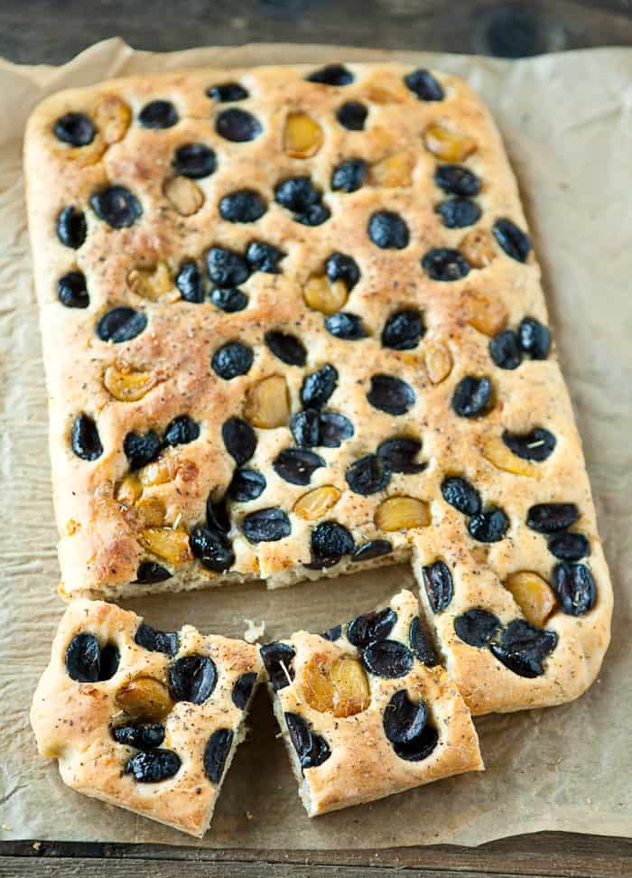 Eclectic Everyday » Roasted Garlic and Olive Focaccia
