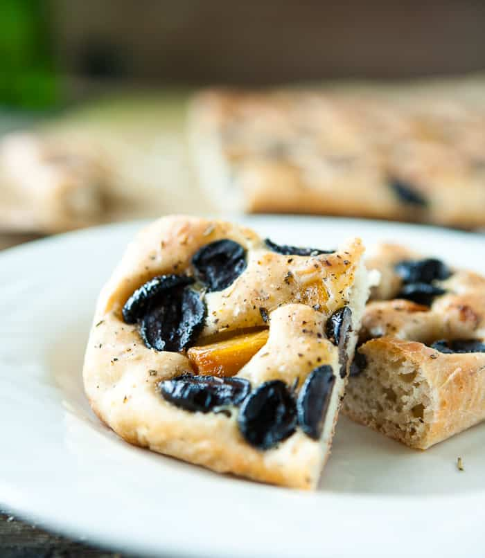 Eclectic Recipes » Roasted Garlic and Olive Focaccia