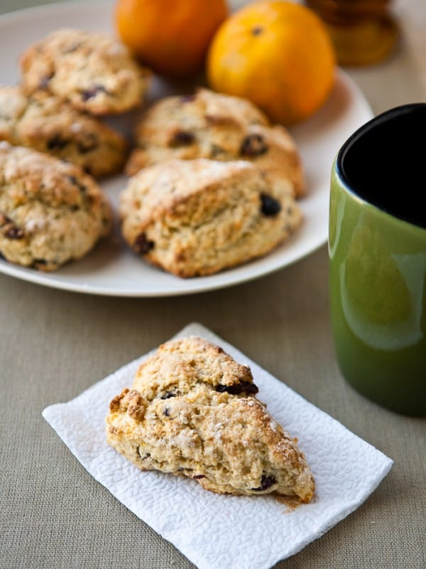 Mixed Berry Tangerine Scones by EclecticRecipes.com #recipe