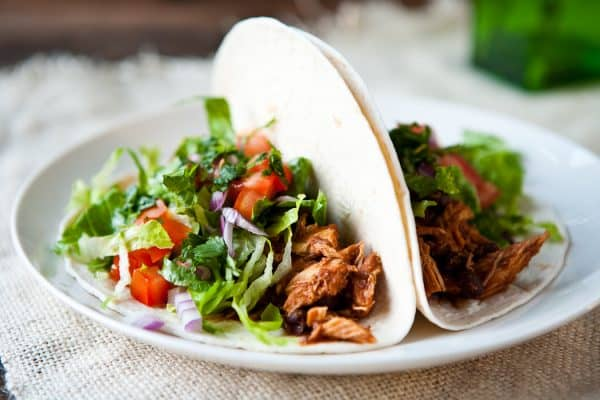 Chicken Tacos by EclecticRecipes.com #recipe