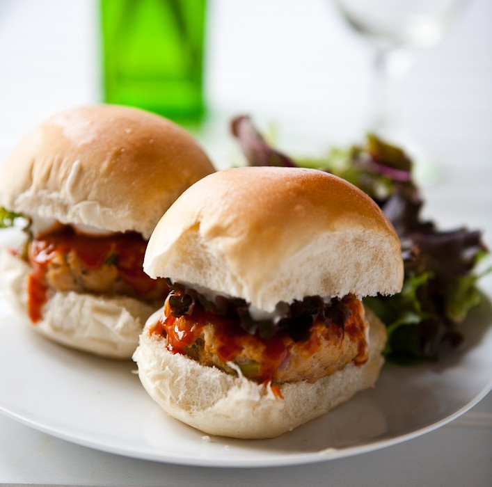Eclectic Everyday » Buffalo Chicken Ranch Sliders