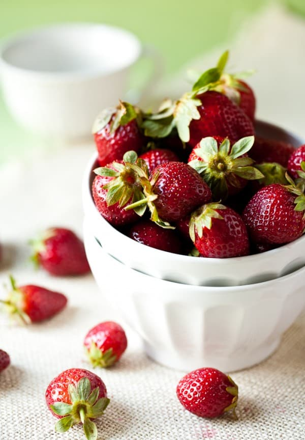Strawberry Freezer Jam by EclecticRecipes.com #recipe