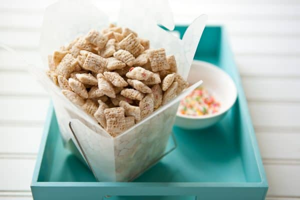 Cake Batter Chex® Mix @EclecticEveryday