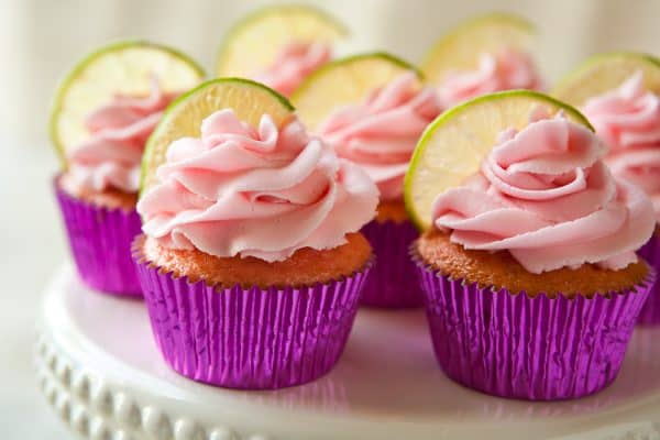 Strawberry Margarita Cupcakes by EclecticRecipes.com #recipe