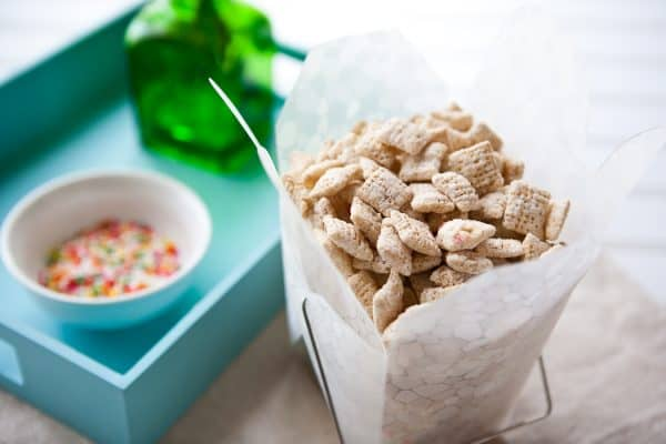Cake Batter Chex Mix by EclecticRecipes.com #recipe