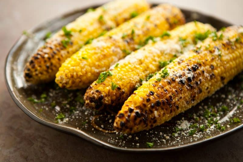 Parmesan Garlic Grilled Corn by ECLECTIC RECIPES LINKSource