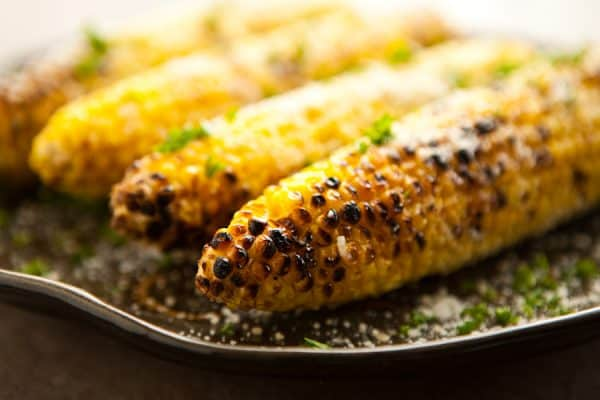 Parmesan Garlic Grilled Corn  by EclecticRecipes.com #recipe
