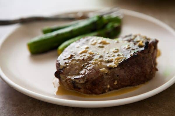 Grilled Steaks with Blue Cheese Garlic Sauce and a Giveaway by EclecticRecipes.com #recipe