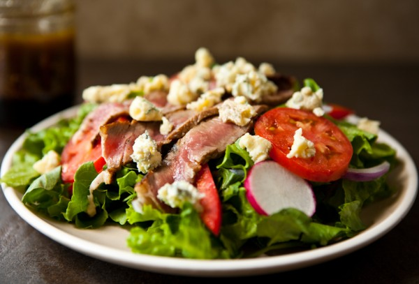 Summer Steak Salad and Shrimp Flatbread with Kerrygold Cheeses and Butter by EclecticRecipes.com #recipe