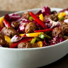 Sausage and Peppers Salad by EclecticRecipes.com #recipe