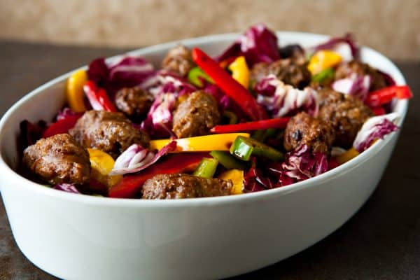 Sausage and Peppers Salad @EclecticEveryday