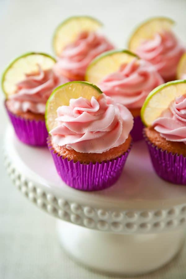 Strawberry Margarita Cupcakes @EclecticEveryday