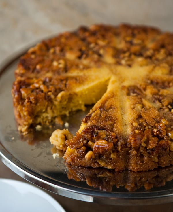 Eclectic Everyday » Bourbon Walnut Cornmeal Cake
